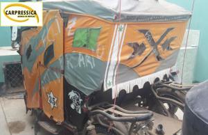 La policía al registrar la mototakar halló los tanques robados.